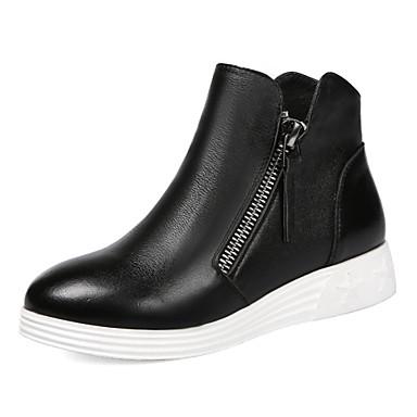 Zapatos de mujer cuero tac n cu a botas anfibias punta for Zapatos de trabajo blancos