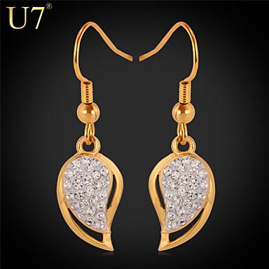 Buy U7® Women's Austrian Rhinestones Earrings Girl's Fashion Jewelry Gift 18K Gold Plated Teardrop Shape Drop