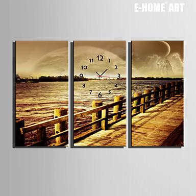 Rectangulaire Moderne Contemporain Horloge Murale Autres
