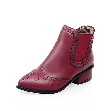 Zapatos de mujer tac n robusto botines puntiagudos - Zapatos de trabajo ...