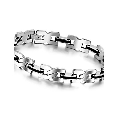 Buy 8.6 Inch Health Men Bracelet Bangle Stainless Steel Magnetic Care Jewelry Black Silver