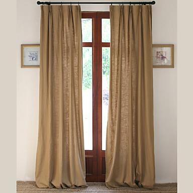 To paneler lin bomull solid panel soverom gardiner gardiner antikk ...