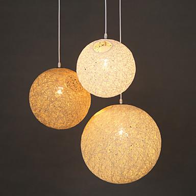 Buy E27 15CM Line 1M Contemporary Contracted Spherical Cany Art Lamp Hemp Ball Pendant Led Light