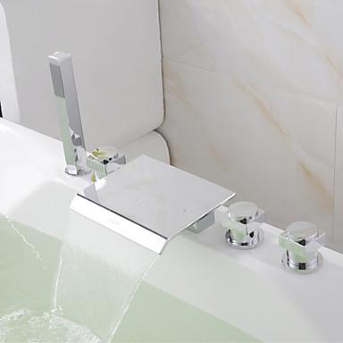 Contempor neo ba era y ducha cascada alcachofa incluida for Ducha cascada