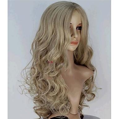 2015 New Movie Princess Cinderella Wig Long Curly Blonde Anime Cosplay Wig+a wig cap