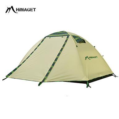 Buy HIMAGET Brand Double Layer 2 Person Door Outdoor Camping Pattern Al Pole Tent