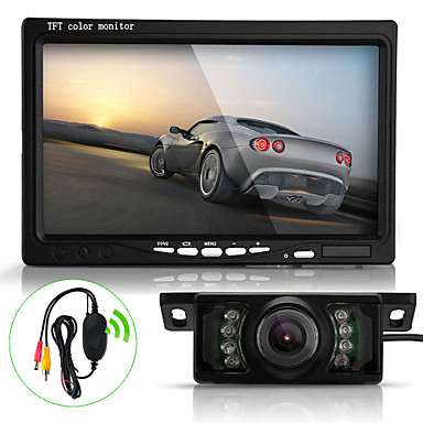 Buy Mouse image zoomDetails 7 TFT LCD Car Rearview Reverse Monitor+Wireless Transmitter+7 LED IR Camera Kit