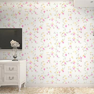 blumen tapete zeitgen ssisch wandverkleidung pvc vinyl wall paper 10 m 4578264 2017. Black Bedroom Furniture Sets. Home Design Ideas