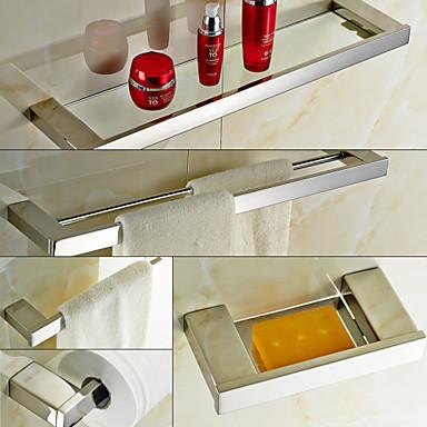 Set de accesorios de ba o contempor neo acero inoxidable for Accesorios para el bano en acero inoxidable