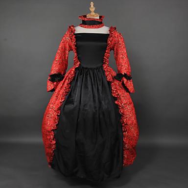 Svart lang kjole