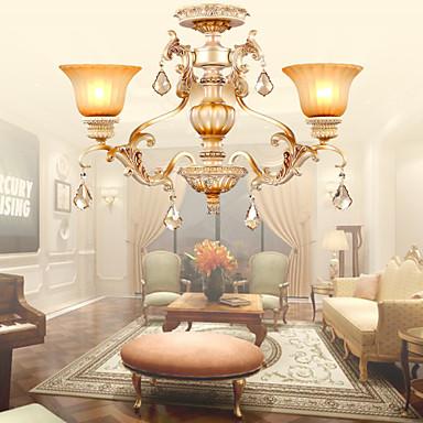 Tradizionale classico cristallo galvanizzato metallo lampadari salotto camera da letto sala - Lampadari sala da pranzo ...