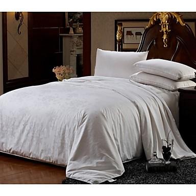 Peso neto ropa de cama de algod n jacquard de seda 100 edred n edred n de seda de primavera - Edredon de seda ...