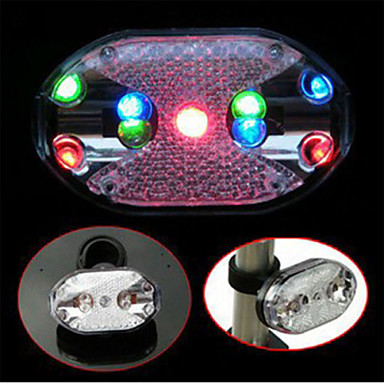 Buy Fashion Cycling Bike Safety Warning Rear Light Bicycle Colorful 9 LED Taillight 7 Modes