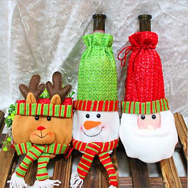 2015 nuevas decoraciones de navidad navidad pap noel conjuntos de botella roja adornos vino - Decoracion de navidad 2015 ...