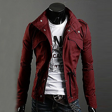 Trendy Autumn Winter Slim Trench Coat Men Cotton Zipper Outerwear Keep Warm Comfortable Jackets Plus Size GESE1