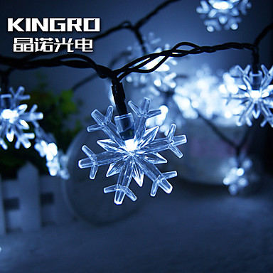 Koning ro zonne 30led vlok sneeuw licht kerst partijen decoratie licht buiten waterdicht - Kleine zonne lamp ...