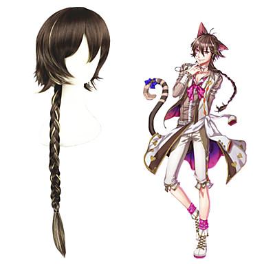 Buy 32inch Long Brown Mixed kingdom Sleeping 100 princes/Cheshire cat Anime Cosplay Wig CS-273B