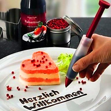 Cake Decoration With Chocolate Syrup : Cake Decorating Chocolate Sauce Write Pen Cream Decorating ...