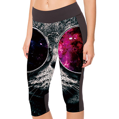 Buy Woman Digital Printing 7 Minutes Pants High Stretch Leggings Cultivate One's Morality Show Thin Yoga Movement