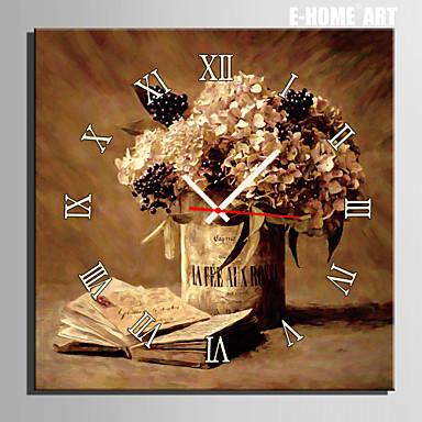 E-HOME® Notebook Flower Clock Canvas