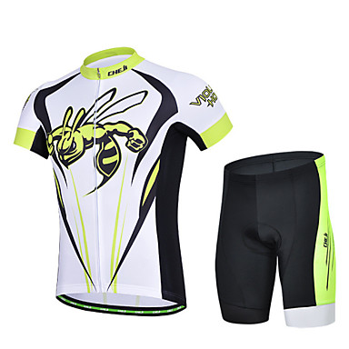 Buy CheJi Summer Men's Breathable Short Sleeve Bicycle Cycling Jersey 3D Padd Pant