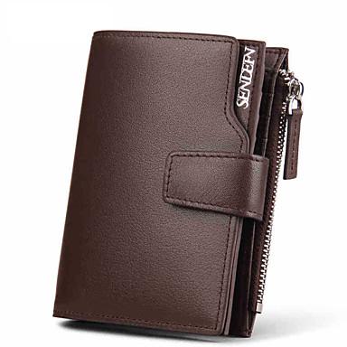 Men Cowhide Bi-fold Wallet / Card & ID Holder / Business Card Holder Short Purse