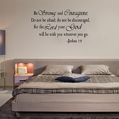 Christian inspirational quotes vinyl lettering wall for Bedroom vinyl quotes