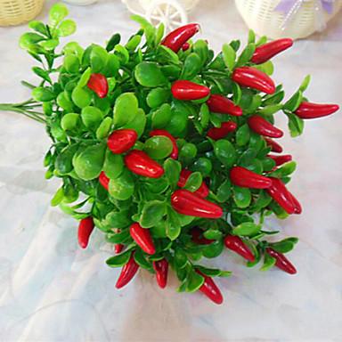 Flores de pimienta flor de seda de flores de seda de alta - Plantas artificiales para decoracion ...