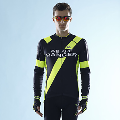 Buy MYSENLAN Cycling Tops / Jerseys Men's Bike Breathable Long Sleeve Inelastic Polyester Terylene Green Dark Blue M L XL XXL XXXL