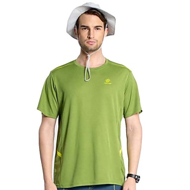 Buy Outdoor Summer Beach Cilmbing Camping Hiking Polyester Quick Drying Short Sleeve Men's T Shirt Sportswear