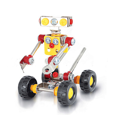Buy Jigsaw Puzzles 3D / Metal Building Blocks DIY Toys Robot 89 Red Yellow Silver Model & Toy
