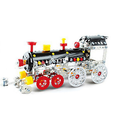 Buy Jigsaw Puzzles 3D / Metal Building Blocks DIY Toys Train 35Metal Red Black Yellow Silver Model & Toy