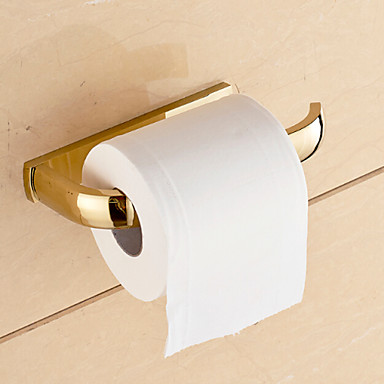 Gold bathroom accessories solid brass toilet paper holders 4824288 2016 - Gold toilet paper holder stand ...