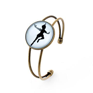 Buy Lureme® Simple Jewelry Time Gem Series Girl Dancing Disc Charm Open Bangle Bracelet Women