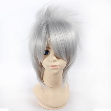 Buy Naruto Hatake Kakashi 28cm Short Straight Silver Color Men's Anime Cosplay Full Wig