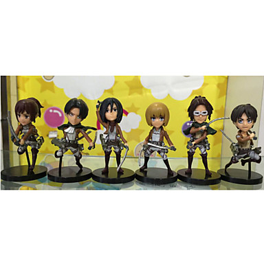 Buy Attack Titan PVC One Size Anime Action Figures Model Toys Doll Toy 8cm