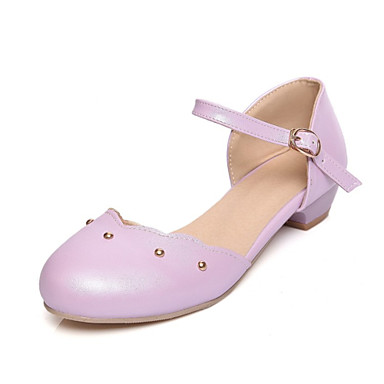 Womens Shoes Leatherette Low Heel Round Toe Heels Wedding Party Amp Evening Dress Casual
