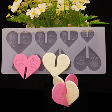 Love Shape Cake Decoration : DIY 3D Love Heart Brick Shape Chocolate Plugin Mold for ...