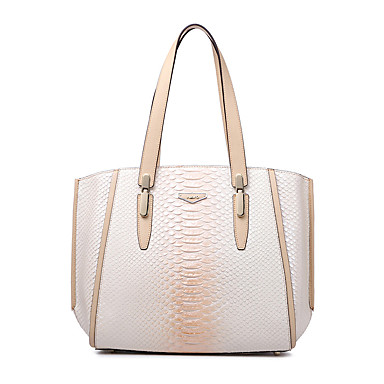 Buy NAWO Women Cowhide Tote Almond - N258