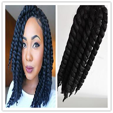 black 1b havana twist braids hair extensions 24