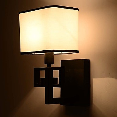 Single Arm Modern Metal Cloth Lampshade Wall Lamp Industrial Decorate for Living Room / Study ...