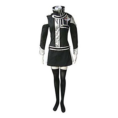 Buy Inspired D.Gray-man Lenalee Lee Anime Cosplay Costumes Suits Patchwork Black Long Sleeve Dress / Badge