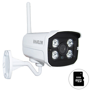 Buy HOSAFE.COM 720P Wireless Outdoor IP Camera ONVIF 32GB Micro SD Card / Motion Detection/ E-mail Alert