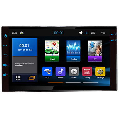 Buy 7 inch2Din Quad Cord 1024*600 Android 4.4.4 Universal Car Navigation car Radio,Audio,Video player,AM/FM,Built-in BT,RDS