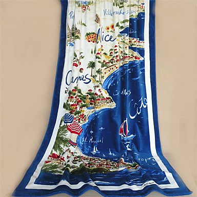 Buy Fashion Patterned Full Cotton Beach Towel 70.8 inch 41.3