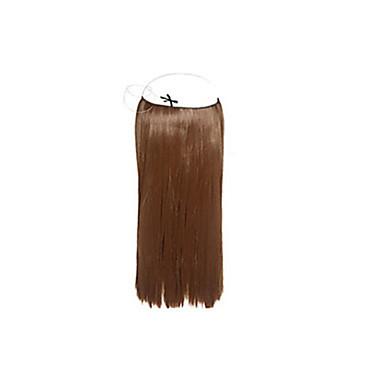 Buy 1pc/lot 8'-30 inch Brazilian Virgin Human Hair Flip Extension 100g/pc Straight #1b,#2,#4,#6,#27,#613