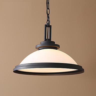 American Country Style Glass Dining Room Pendant Lights