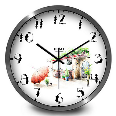 Simple small house living room wall clock 5060284 2016 for Modern living room clocks