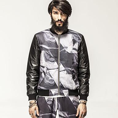 Buy KON® Men's V Neck Long Sleeve Jackets Black-K13M-OW0057