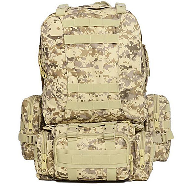 Buy 55 L Hiking & Backpacking Pack / Backpack Camping Outdoor Multifunctional Army Green Oxford